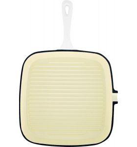 Daumonet Gietijzeren Grillpan - 23,5 cm - Wit