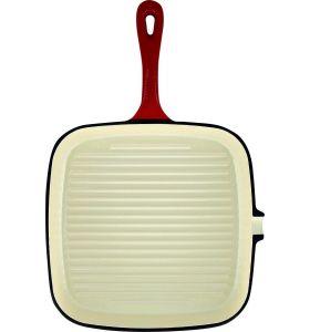 Daumonet Gietijzeren Grillpan - 23,5 cm - Kersenrood