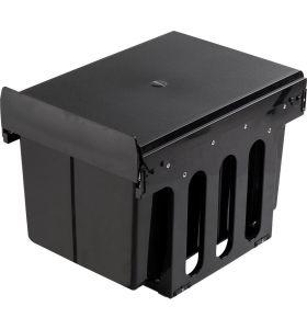 Homra Slide Inbouw Prullenbak - Kunststof - 3 vakken - 30L - Zwart