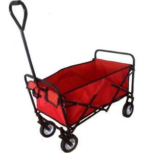 HOMRA opvouwbare bolderkar - Rood & Zwart