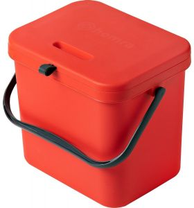 Homra Wall-Up inbouw prullenbak - 8L - Rood