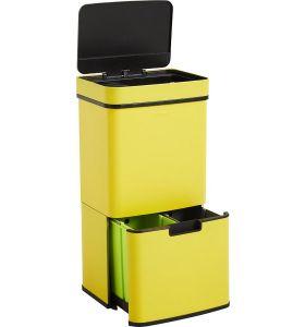 Homra NEXO Prullenbak met Sensor - 3 vakken - 72L - Geel