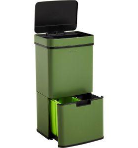 Homra NEXO Prullenbak met Sensor - 3 vakken - 72L - Groen