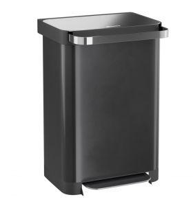Homra Pullix prullenbak met pedaal - 50 liter - Zwart