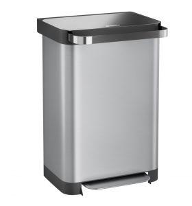 Homra Pullix prullenbak met pedaal - 50 liter - RVS