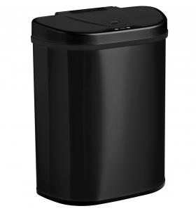 Homra QUBIX prullenbak met sensor - 2 vakken - 70L - Zwart