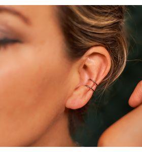 Laura Ferini ear cuff's Isabella - Zilverkleurig