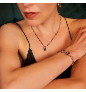 Laura Ferini ketting Serratura - Zilverkleurig