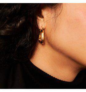 Laura Ferini oorbellen Piazza - Goudkleurig