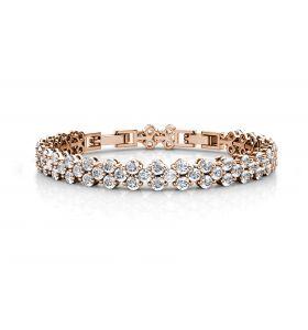 Yolora armband met Kalpa Zirkonia kristallen - Roségoud kleurig