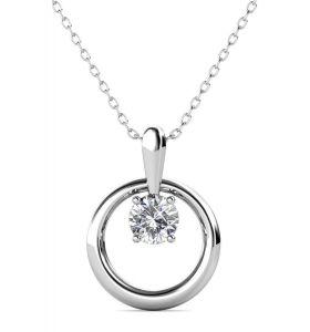Yolora ketting met Kalpa Camaka kristal - Zilverkleurig