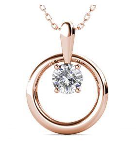 Yolora ketting met Kalpa Camaka kristallen – Rosékleurig