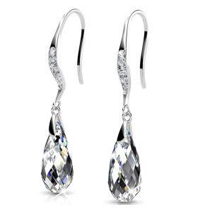 Yolora oorbellen met Kalpa Camaka kristal - Zilverkleurig
