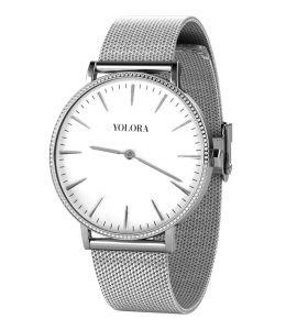Yolora horloge met Kalpa Camaka kristallen - Zilverkleurig