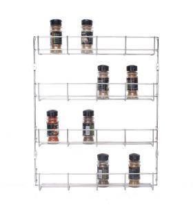 Zindoo ophangbaar kruidenrek - 4 laags - RVS - Zilver