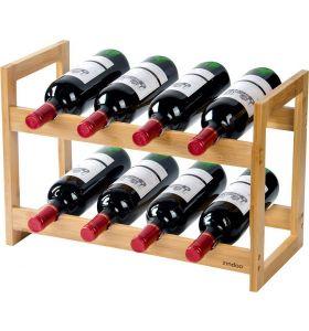 Zindoo bamboe wijnrek voor 8 flessen - FSC Bamboe