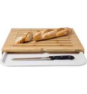 Zindoo bamboe broodplank met opvanglade - FSC Bamboe