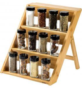 Zindoo Kruidenrek voor 12 kruidenpotjes - FSC Bamboe